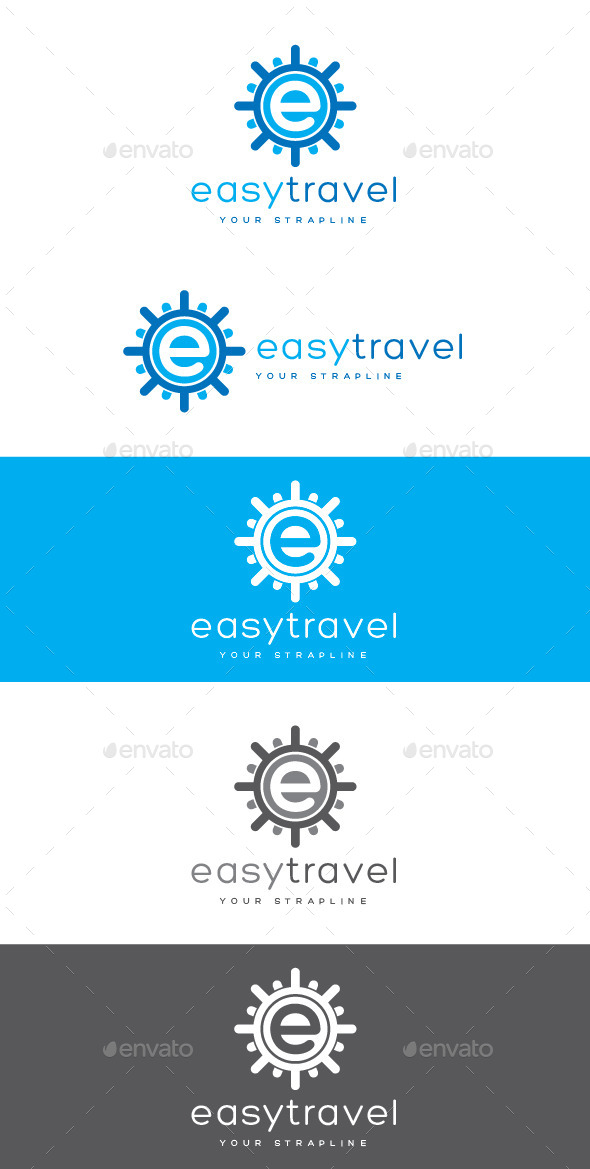 GraphicRiver Easy Travel Letter E Logo 8923864