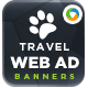 Travel & Tourism Web Banner Design - GraphicRiver Item for Sale