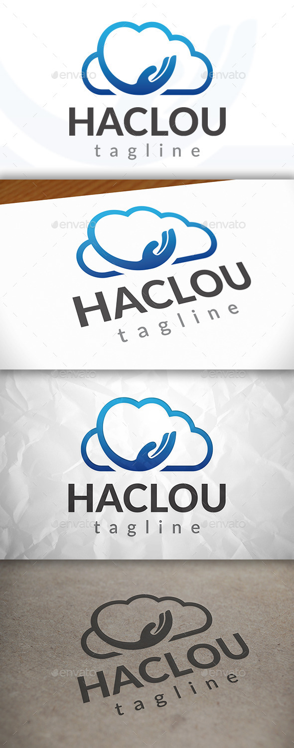 GraphicRiver Hand Cloud Logo 8923933