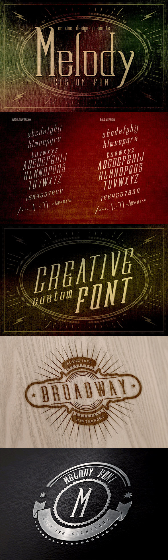 GraphicRiver Melody Custom Font 8924021