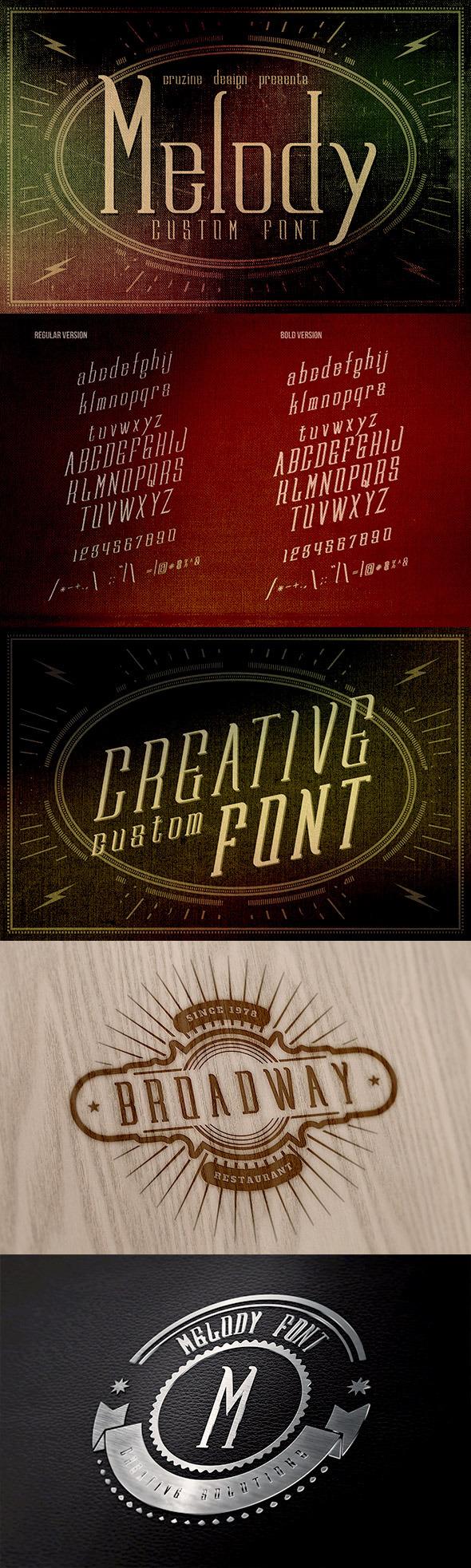 Melody Custom Font