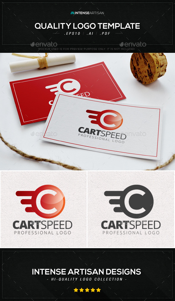GraphicRiver Cart Speed Logo Template 8924022