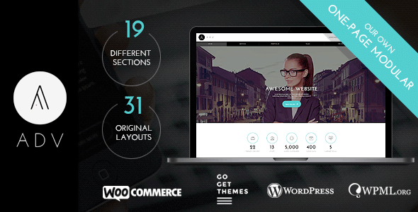 ADV - Multipurpose One Page WordPress Theme
