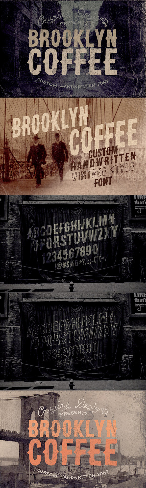 GraphicRiver Brooklyn Coffee Custom Font 8924082