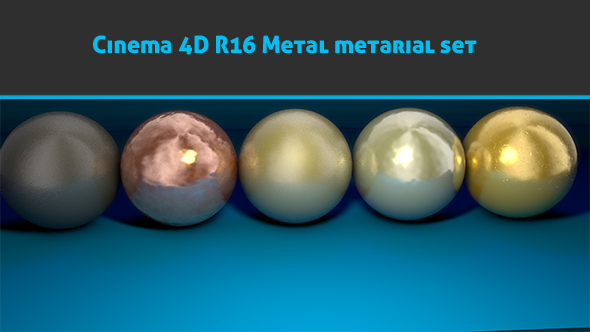 3DOcean Cinema 4D R16 Realistic metal materials 8924116