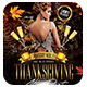 Thanksgiving After Party Flyer + FB Cover - GraphicRiver Item for Sale