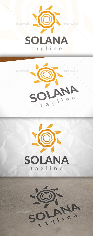 GraphicRiver Modern Sun Logo 8924133