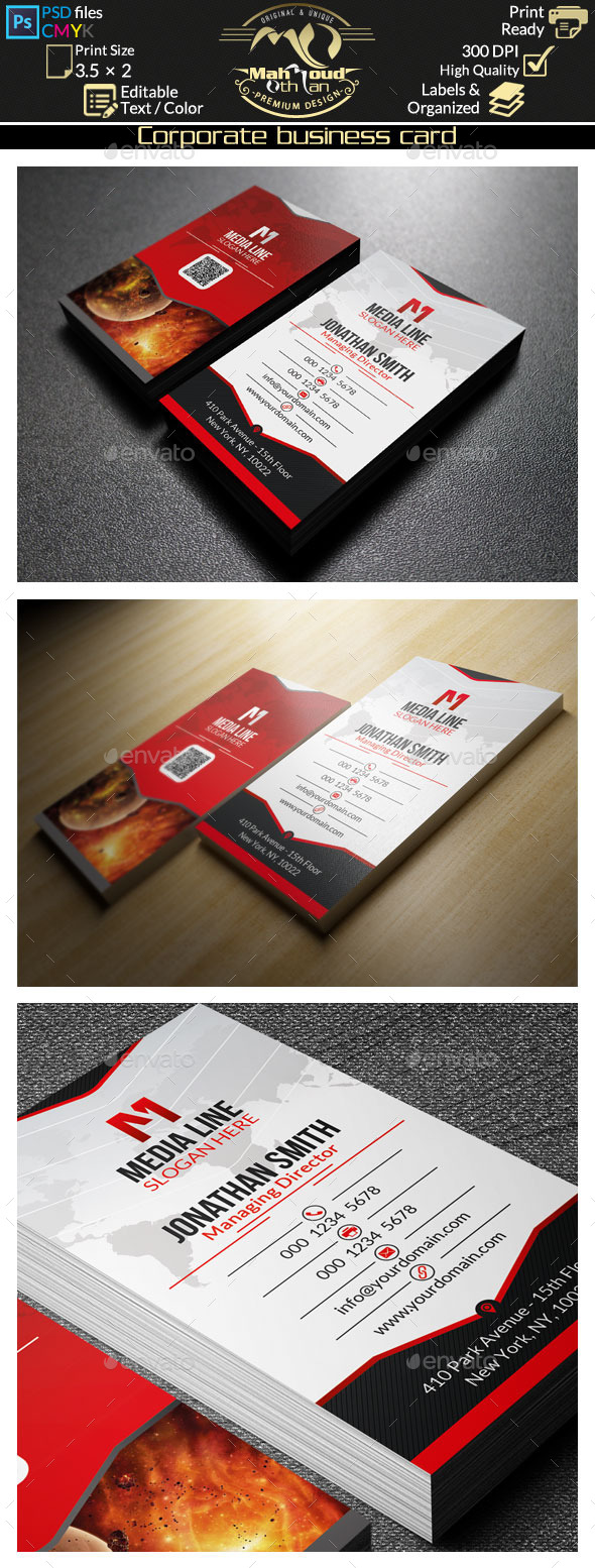 GraphicRiver Creative Red Business Card 48 8924187