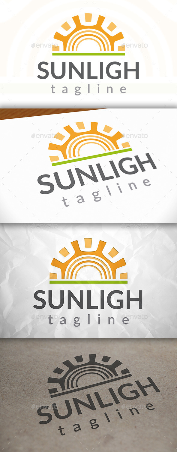 GraphicRiver Sun Simple Logo 8924243