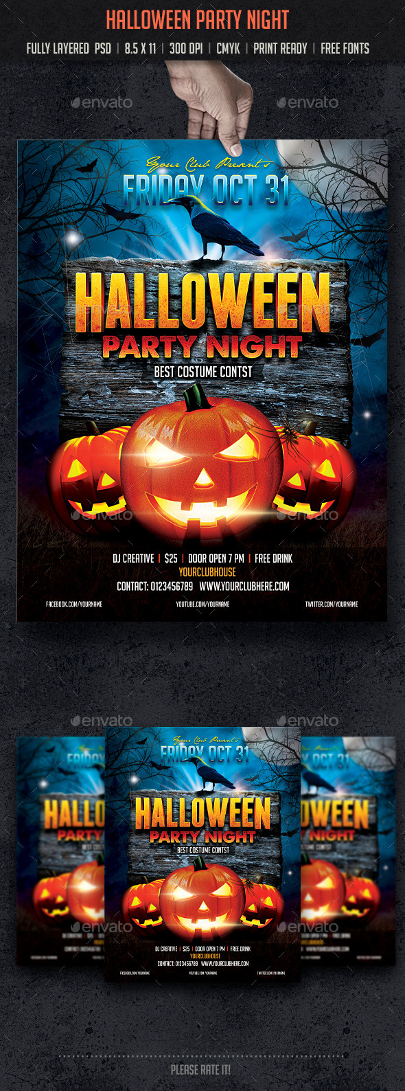 GraphicRiver Halloween Party Night 8924247