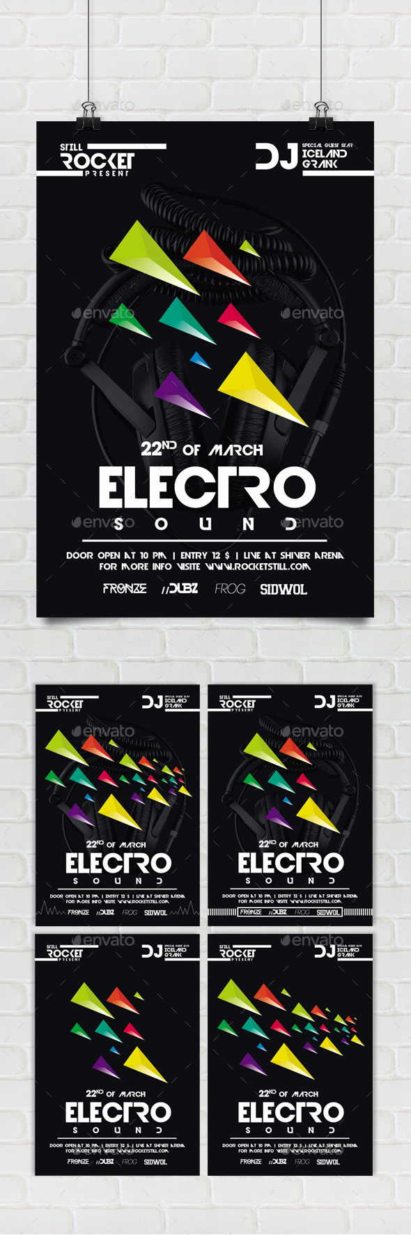 GraphicRiver Electro Nu Flyer 8910025