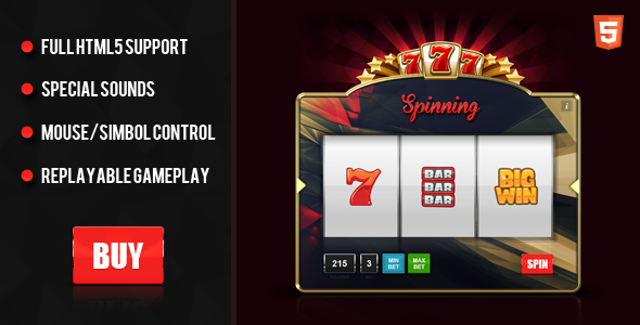 CodeCanyon Premium HTML5 Slot Machine 8893205