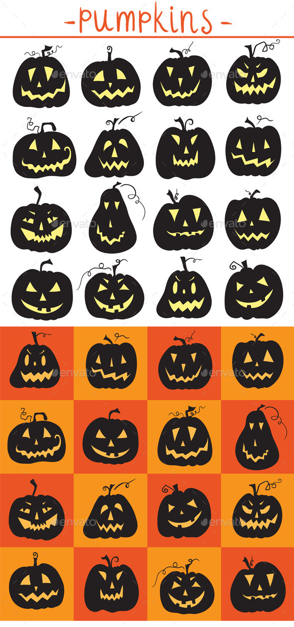 GraphicRiver Set of Halloween Pumpkins 8924760