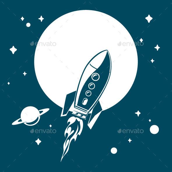 GraphicRiver Space Rocket 8924819