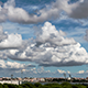 Beautiful Cumulus Clouds over Town 920 - VideoHive Item for Sale