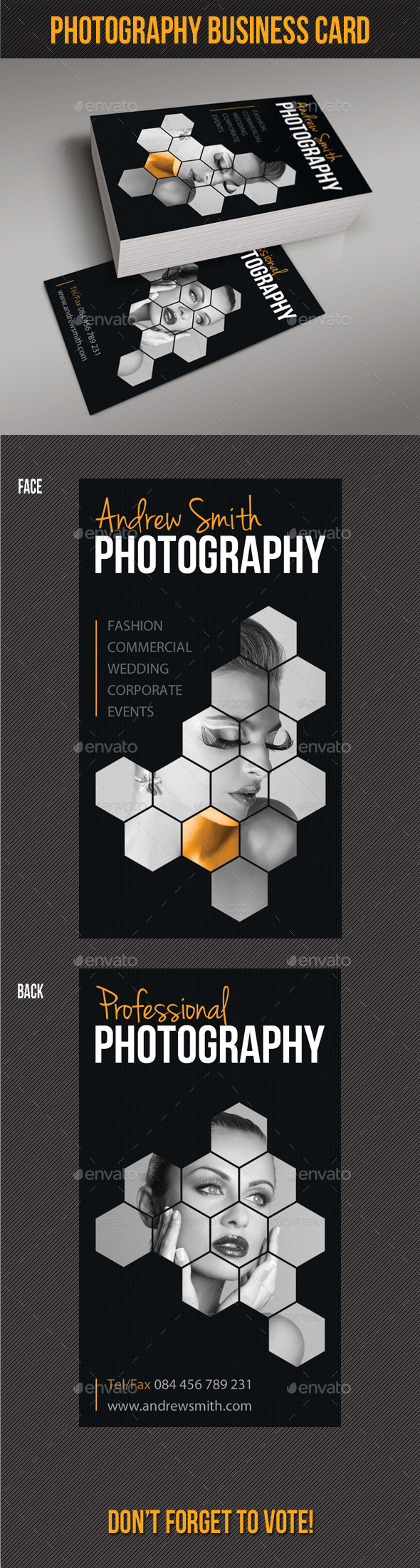 GraphicRiver Photography Studio Business Card 8924892