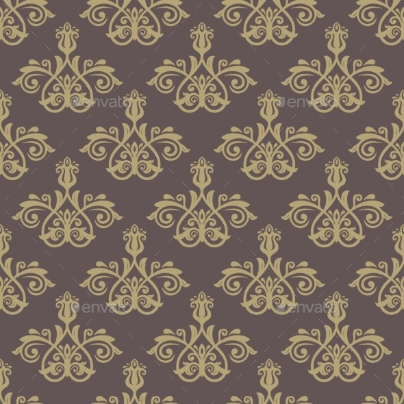GraphicRiver Damask Seamless Vector Pattern Orient Background 8925194
