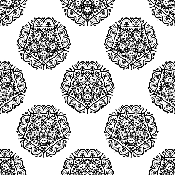 GraphicRiver Orient Seamless Vector Pattern Abstract Background 8925337