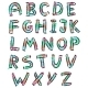 Color English Alphabet in Doodle Style - GraphicRiver Item for Sale
