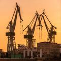 Industrial cargo cranes in the dock - PhotoDune Item for Sale