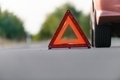 Red triangle of a car - PhotoDune Item for Sale