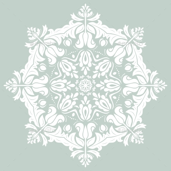 GraphicRiver Orient Vector Ornamental Round Lace 8925364