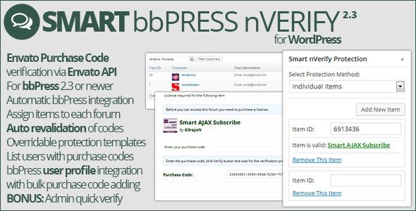 Smart bbPress nVerify - CodeCanyon Item for Sale