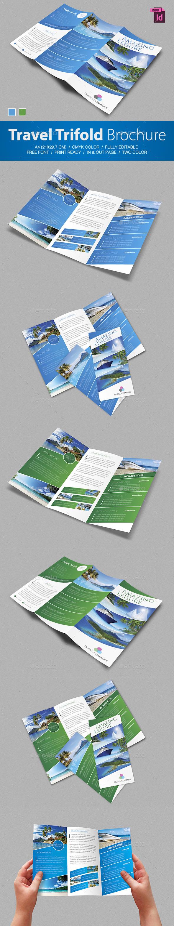 GraphicRiver Travel Trifold Brochure 8883114
