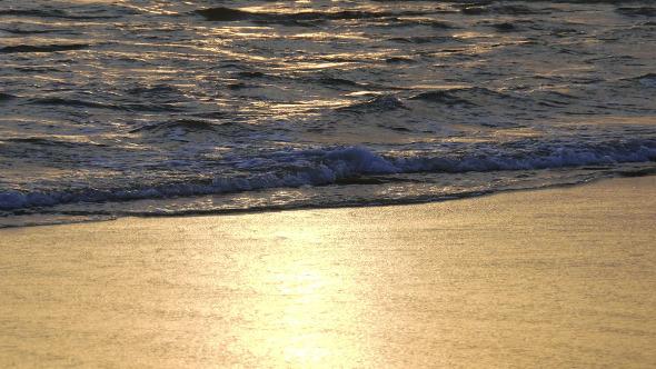 Waves Crashing on Beach 929