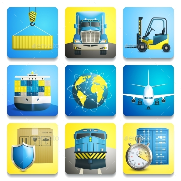 GraphicRiver Logistic Icons Set 8925555
