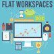 Financial Flat Workplaces - GraphicRiver Item for Sale