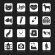 Veterinary Icons Set Black - GraphicRiver Item for Sale