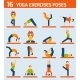 Yoga Exercises Icons - GraphicRiver Item for Sale