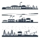 Industrial City Skyline Banners - GraphicRiver Item for Sale