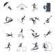 Extreme Sports Icons Black - GraphicRiver Item for Sale