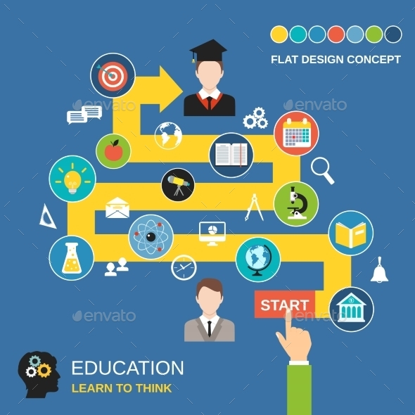 GraphicRiver Education Process Concept 8925810