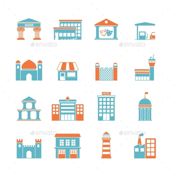GraphicRiver Government Buildings Icons 8925817