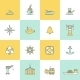 Sea Port Icons Flat Line Set - GraphicRiver Item for Sale