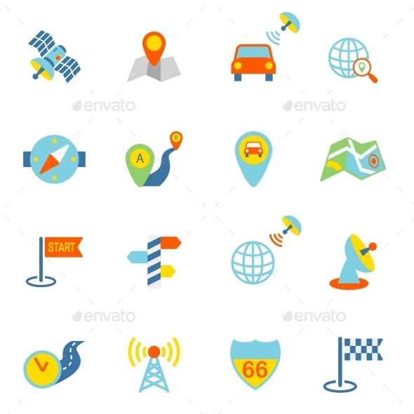 GraphicRiver Mobile Navigation Icons Flat 8925824