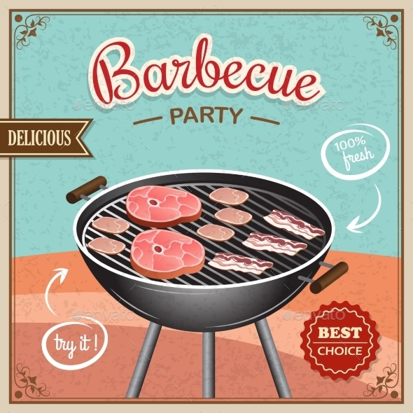 GraphicRiver Bbq Grill Poster 8925827