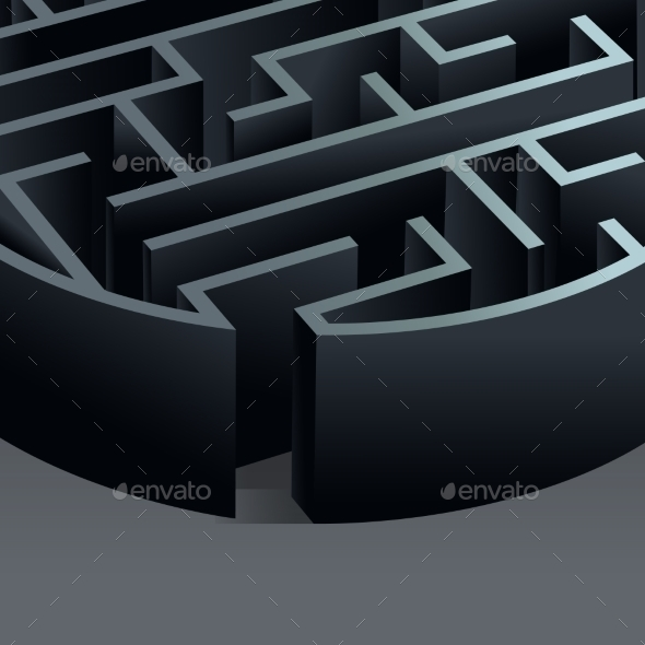 GraphicRiver Maze 3D Circle 8925924