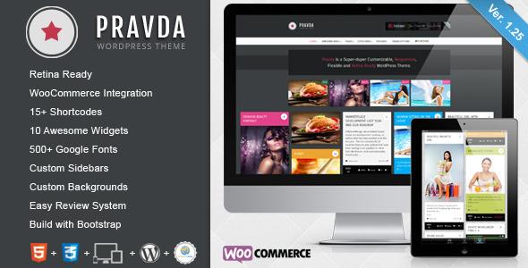 Pravda - Retina Responsive WordPress Blog Theme - Title Theme