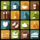 Tea Icons Set Flat - GraphicRiver Item for Sale