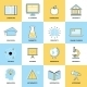 Education Flat Line Icons - GraphicRiver Item for Sale