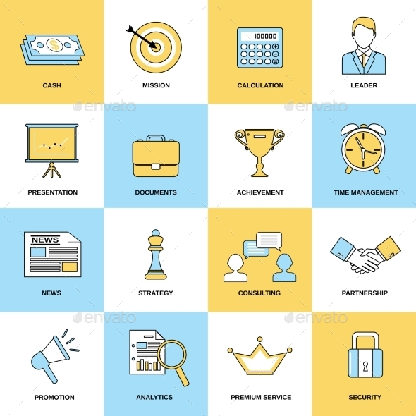 GraphicRiver Marketing Icons Set 8926015