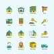 Real Estate Flat Line Icons - GraphicRiver Item for Sale