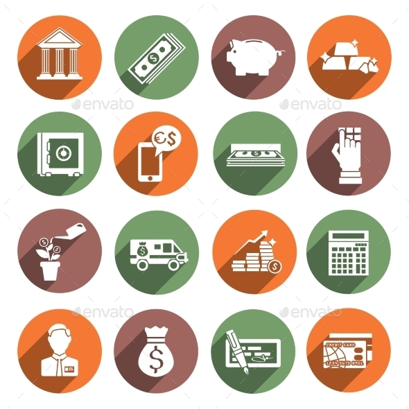 GraphicRiver Bank Service Icons 8926032