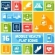 Mobile Health Icons Set Flat - GraphicRiver Item for Sale