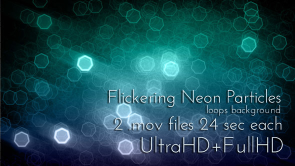 Flickering Neon Particles