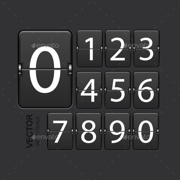 GraphicRiver Vector Modern Numeric Scoreboard Set 8926121